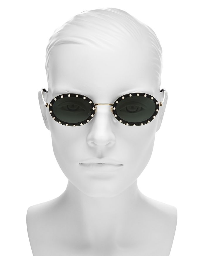 f4131de85a0 Valentino - Women s Embellished Oval Sunglasses