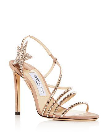 Jimmy Choo - Women's Lynn 100 Embellished Slingback High-Heel Sandals