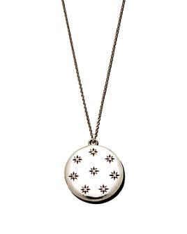 "Sasha Samuel - Sterling Silver Adriane Locket Necklace with Cubic Zirconia, 20"""