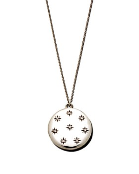 "Sasha Samuel - Sterling Silver Hannah Locket Necklace with Cubic Zirconia, 20"""