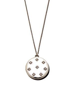 SASHA SAMUEL Sterling Silver Hannah Locket Necklace With Cubic Zirconia, 20
