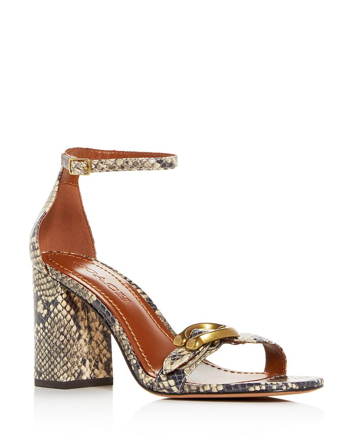 448bc1528a33 COACH - Women s Maya Ankle Strap High Block-Heel Sandals