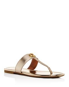 COACH - Women's Jessie T-Strap Thong Sandals