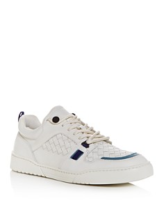 Bottega Veneta - Men's Heeze Woven Leather Low-Top Sneakers