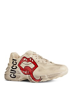 Gucci - Women's Rhyton Mouth Print Sneakers