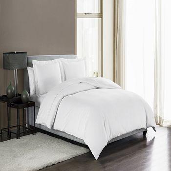 Highline Bedding Co. - Sullivan 400TC Cotton Sateen Solid Duvet Cover Set, Queen