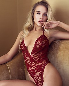 In Bloom by Jonquil - Lace Deep-V Teddy