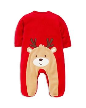 Little Me - Unisex My First Christmas Velour Reindeer Footie - Baby