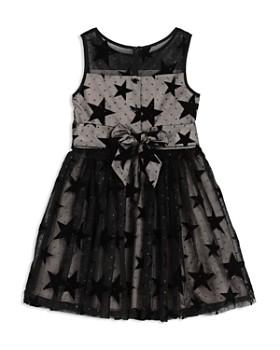 Pippa & Julie - Girls' Mesh Velvet-Star Dress & Bloomers Set - Baby