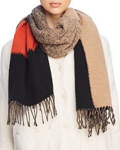 Eileen Fisher - Color Block Fringe Scarf