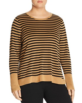 Eileen Fisher Plus - Striped Sweater