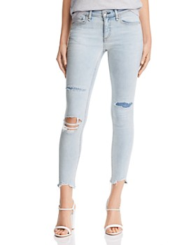 rag & bone/JEAN - Ankle Skinny Jeans in Lynn w/ Holes