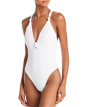 Dolce Vita Cali Babe Knotted Waffle One Piece Swimsuit-Women