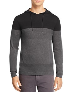 Michael Kors - Color-Block Mixed-Stitch Hooded Sweater