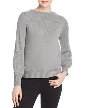 Elan - Faux-Pearl-Embellished Sweater