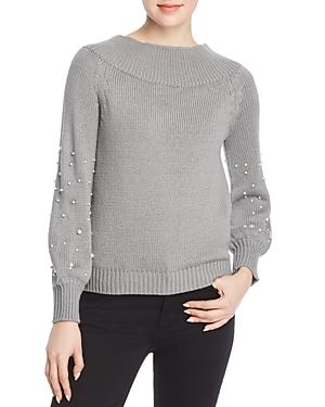 Elan Faux-Pearl-Embellished Sweater