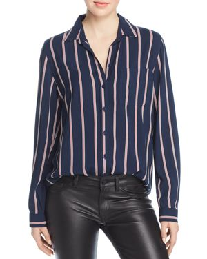 BEACHLUNCHLOUNGE Beachlunchlounge Striped Button-Down Shirt in Navy