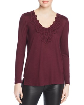 Daniel Rainn - Crochet-Lace-Trim Top