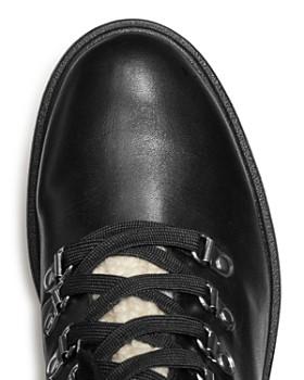 AQUA - Women's Roy Faux Fur Platform Ankle Boots