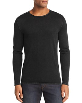 John Varvatos Star USA - Acid-Wash Crewneck Sweater