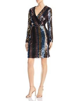 Sam Edelman - Striped Sequin Dress