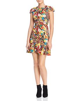 Alice And Olivia Kirby Ruffled Fl Print Dress