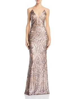 AQUA - Deco Sequined Gown - 100% Exclusive