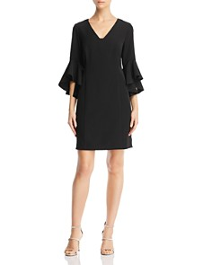 Laundry by Shelli Segal - Bell-Sleeve Crepe Dress