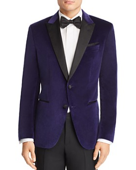 HUGO - Helward Velvet with Satin Lapel Slim Fit Tuxedo Jacket