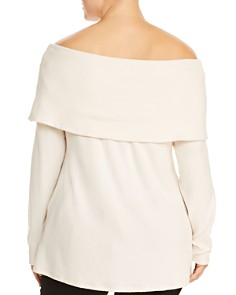 B Collection by Bobeau Curvy - Off-the-Shoulder Overlay Sweater