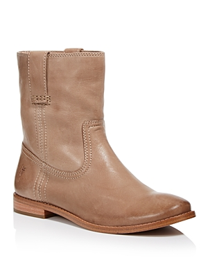 Frye WOMEN'S ANNA SHORT ROUND TOE LEATHER BOOTS