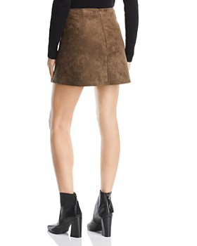 FRENCH CONNECTION - Suedette A-Line Mini Skirt - 100% Exclusive