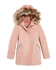 AQUA - Girls' Coat with Faux-Fur Trim, Big Kid - 100% Exclusive