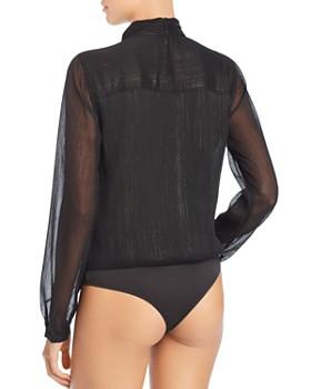GUESS - Camilla Metallic Crossover Bodysuit