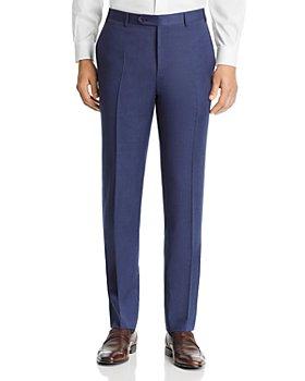 Canali - Siena Mélange Twill Solid Classic Fit Dress Pants