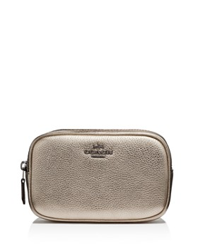 COACH - Metallic Leather Belt Bag