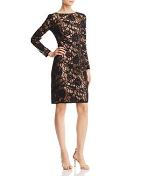 Tadashi Shoji - Sequined Burnout Velvet Dress
