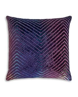 "Kevin O'Brien Studio - Chevron Velvet Decorative Pillow, 20"" x 20"""