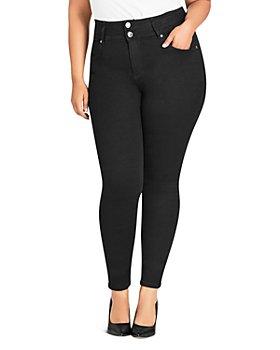 City Chic Plus - Harley Skinny Jeans in Black