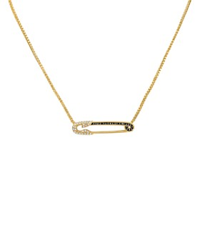 """KARL LAGERFELD Paris - Safety Pin Pendant Necklace, 16"""""""