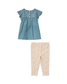 Ralph Lauren - Girls' Chambray Top & Floral Leggings Set - Baby