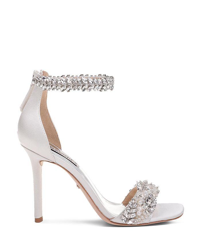 53e51f820 Badgley Mischka - Women s Fiorenza Faux Pearl   Crystal Embellished  High-Heel Sandals
