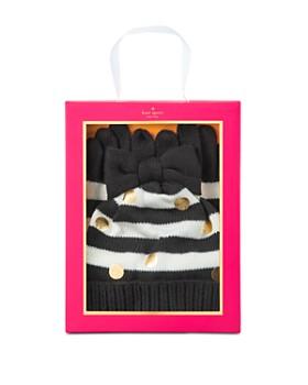 kate spade new york - Girls' Bow Hat & Gloves Set