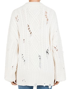 The Kooples - Distressed Cable Knit Sweater