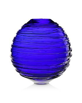 "William Yeoward Crystal - Miranda Ocean Globe Vase, 11"""