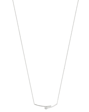 Bloomingdale's Diamond Cluster Bar Necklace in 14K White Gold, 0.09 ct. t.w. - 100% Exclusive