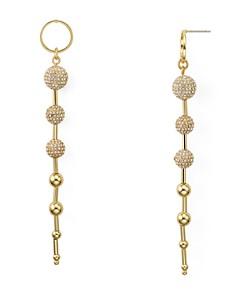 Rebecca Minkoff - Pavé Sphere Linear Drop Earrings