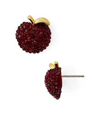 kate spade new york Pave Apple Stud Earrings