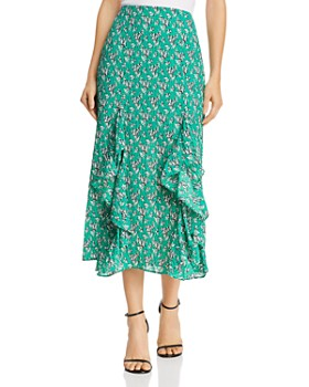 62d4cd514a2 The Fifth Label - Adventurer Printed Ruffled Midi Skirt ...