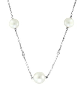 941d66cc6c6b65 Bloomingdale's - Freshwater Pearl & Diamond Station Necklace in 14K White  Gold, 18